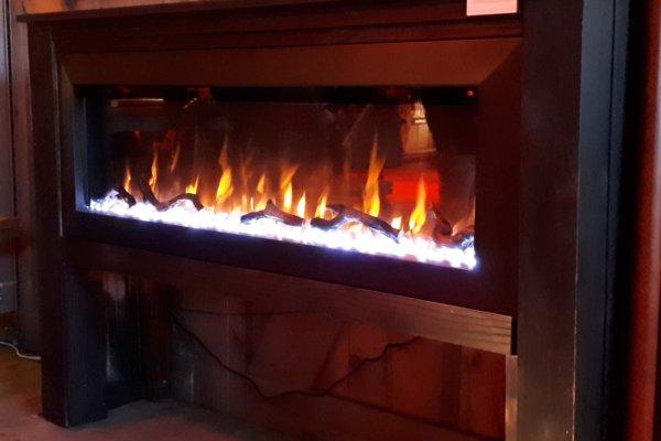 Franco Belge E-Monaco elektrische sfeerhaard met warmteventilator ledverlichting steentjes hout kristallen